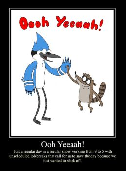 Regular Show Demotivational by Bleuxwolf