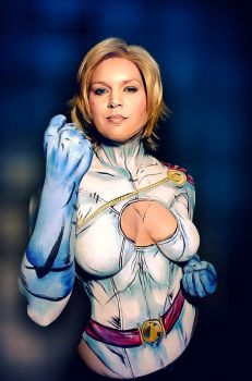 Powergirl bodypaint II by Adnarimification