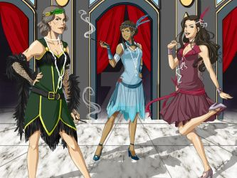 Legend of Korra: Flappers by TerraForever