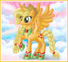 Alicorn Applejack by bapity88