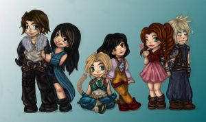 Final Fantasy chibi 1 colored by majdarts