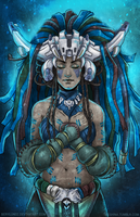Shaman of Blue Light by Berylunee