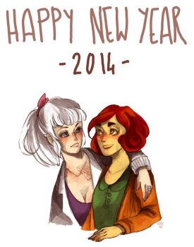Happy New Year from the Cuties by inu-steakcy