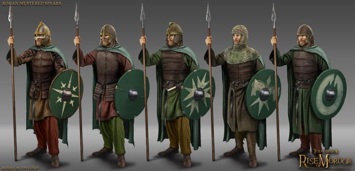 Rohan Mustered Spearmen by RobbieMcSweeney