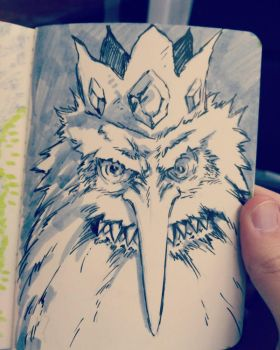 Inktober day 5: Ice King by Corbella