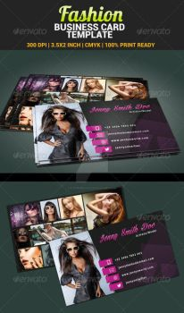 Fashion-model-actress-business-card-template-p by ExtremeLogo