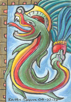 Quetzalcoatl ACEO by Zalcoti