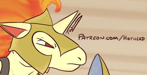 Greek Warrior Rapidash - Patreon Preview by Big-Red-Hothead