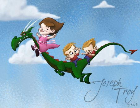 Imaginary Friend Dragon by TroyToons