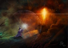 An Enemy Revealed: Gandalf vs Sauron by LaurenceAndrewPage