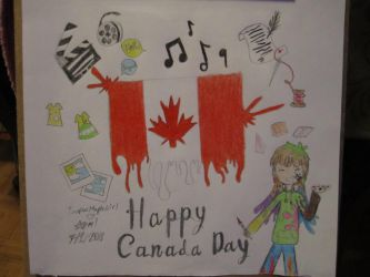Canada day (I know it's kinda late) by SuperMapleGirl