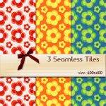 Seamless Floral Tiles 03 by BubbleCloud