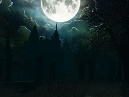 Haunted house background 13 by indigodeep
