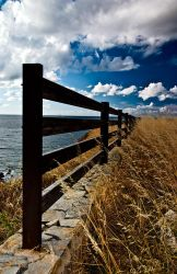 The fence on the cliff 2 by AntonioAndrosiglio