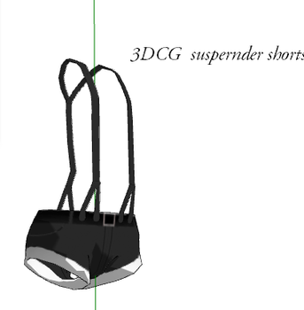 MMD- Suspender Shorts -DL by MMDFakewings18