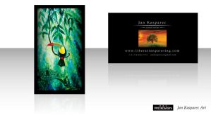 Jan Kasparec - visual artist -business card 4 by R1Design