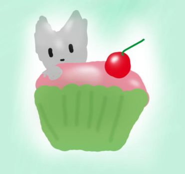 a kitty in a cupcake by xCupcakekitty