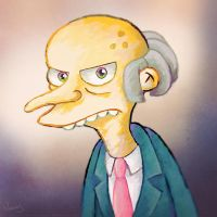 Grumpy Mr. Burns portrait by MissNeens