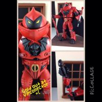 Musashi style crimson horde trooper by hunterknightcustoms