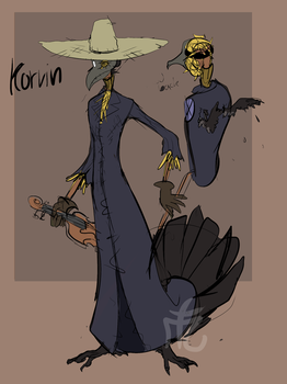 Korvin the enchanted scarecrow - [OC] by Laverkyn