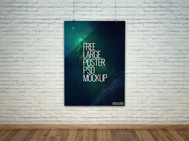Freebie - Large Poster PSD Mockup by GraphBerry