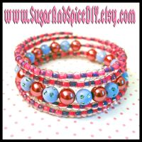 Cheshire Cat Colors Bracelet by wickedland