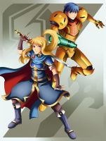 Samus and Marth outfit swap by Bicoitor