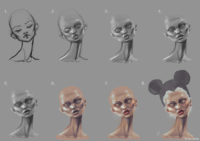 Lighting exercise - Step by step process by SolDevia