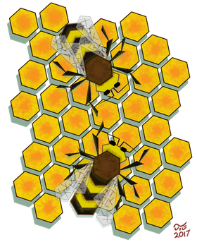 Flying Hive by artjte