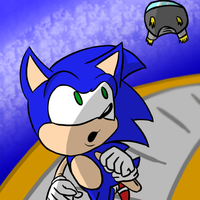 Sonic Getting Chased by Stolken