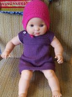 Purple cashmere dress for littlesister by KnitLizzy