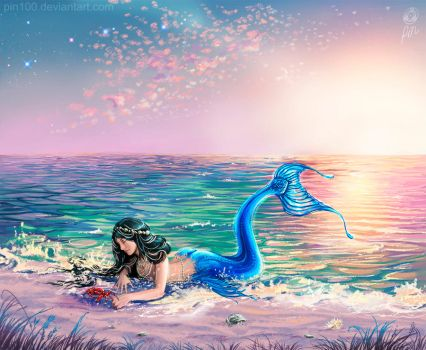 Tropical Mermaid by pin100