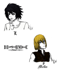 Favourite anime characters - Death Note by ReineHela