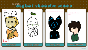 original character meme (simple) by be-es