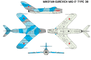 Mikoyan MiG-17 Type 38 by bagera3005