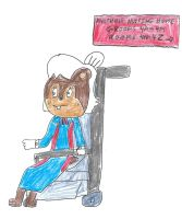 Rosie Woodchuck in a wheelchair by dth1971