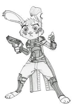 [COMMISSION] Fallout in Zootopia by Ziegelzeig