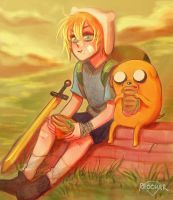 Finn and Jake by CharlieRobin