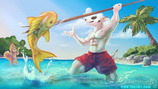 Spear Fishing With Terrance by ihazart