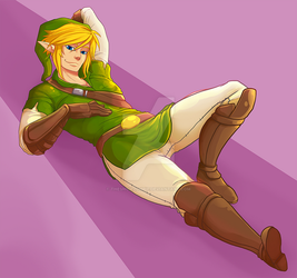 Link Pin-up by TheSnowZombie