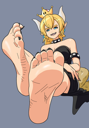 Barefoot Bowsette by PawFeather