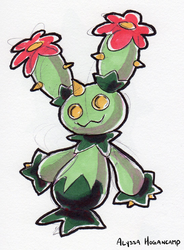 #556 Maractus by little-ampharos