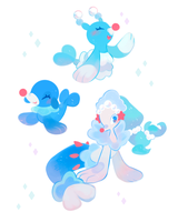 Popplio Line Stickers