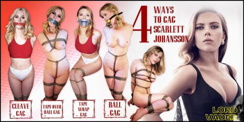 Scarlett Johansson gagged 5 ways by lordvadersempire