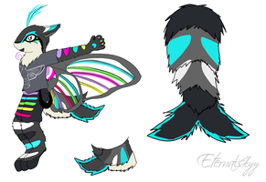 Hummingbird Moth Fursuit Reference by Eternalskyy