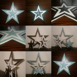 Reclaimed Wooden 3 Star Set by gensanity