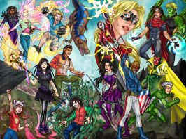 Runaways + Young Avengers by cirgy