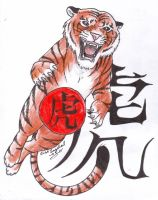 Chinese Horoscope Tiger by LARvonCL