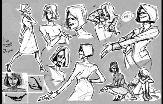 Kate sketches by DariaSnow