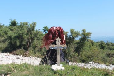 Graveyard woman in pain stock by SusanaDS-Stocks